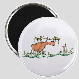 moose in a swamp Magnet