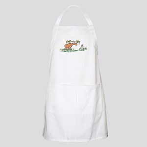 moose in a swamp BBQ Apron