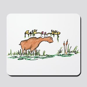 moose in a swamp Mousepad
