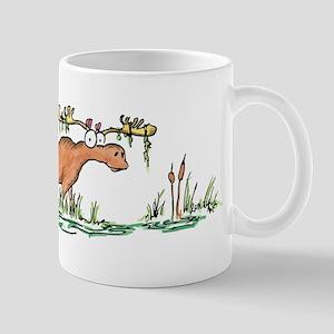 moose in a swamp Mug