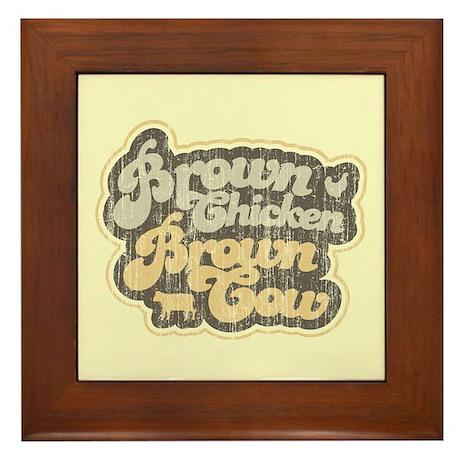 Brown Chicken Brown Cow Framed Tile