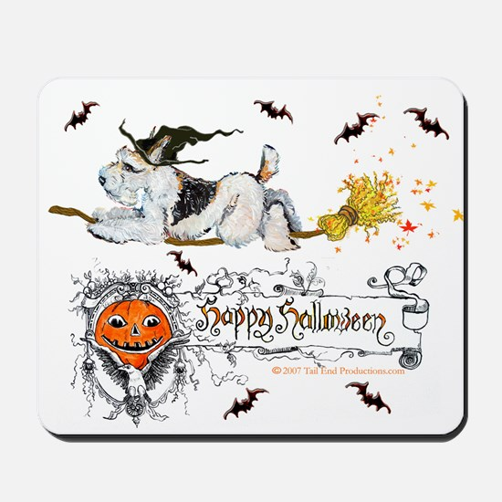 Halloween Fox Terrier Mousepad