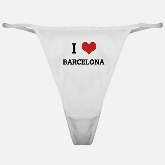 I Love Barcelona Classic Thong