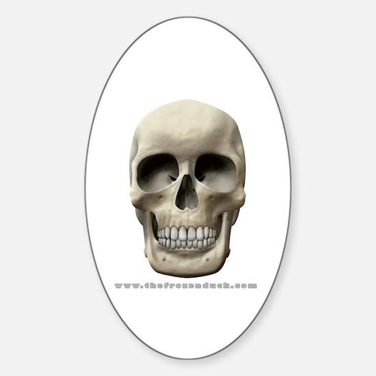 Human Skull Oval Decal