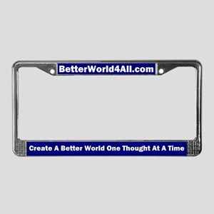 BetterWorld4All License Plate Frame