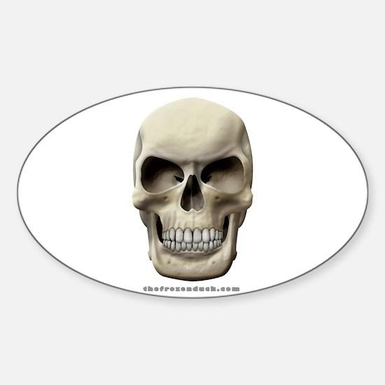 Evil Skull Oval Decal