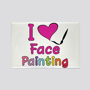 I Love Face Painting Rectangle Magnet