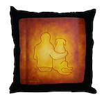 Labrador Dog & Friend Throw Pillow