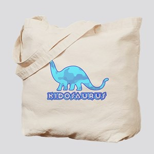 Kid Dinosaur Blue Camo Tote Bag