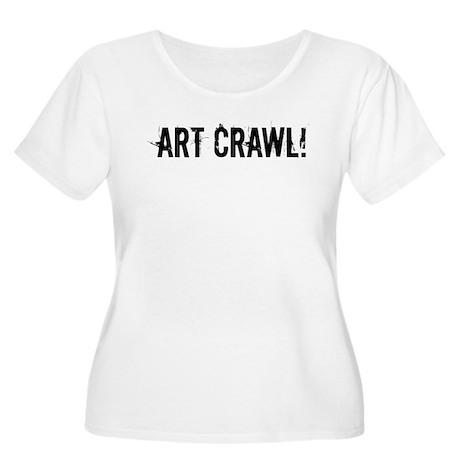 ART CRAWL! Women's Plus Size Scoop Neck T-Shirt