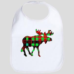 Plaid Moose Bib