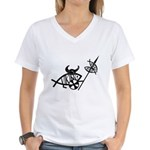 Viking Fish Women's V-Neck T-Shirt