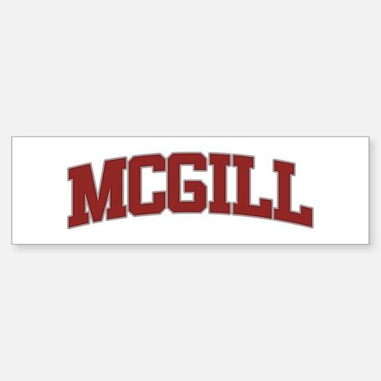 MCGILL Design Bumper Bumper Bumper Sticker