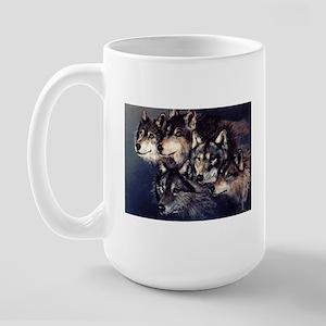 Large Wolf Mug.