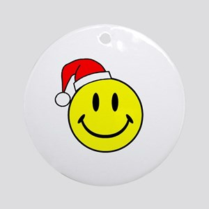 Smile (Santa Hat) Ornament (Round)