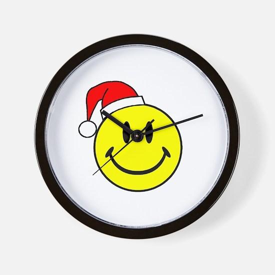 Smile (Santa Hat) Wall Clock