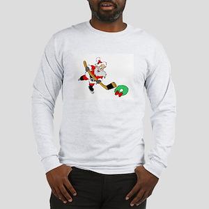 Hockey Santa Long Sleeve T-Shirt