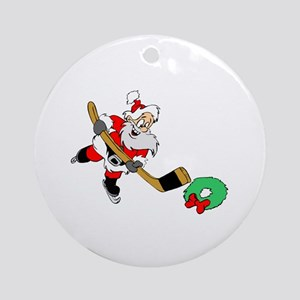 Hockey Santa Ornament (Round)