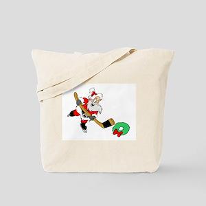 Hockey Santa Tote Bag