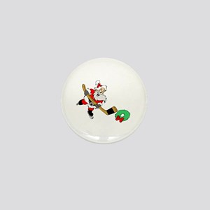 Hockey Santa Mini Button