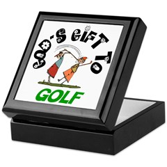 God's Gift to Golf Keepsake Box