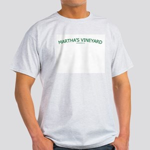 Martha's Vineyard (Green) - Ash Grey T-Shirt