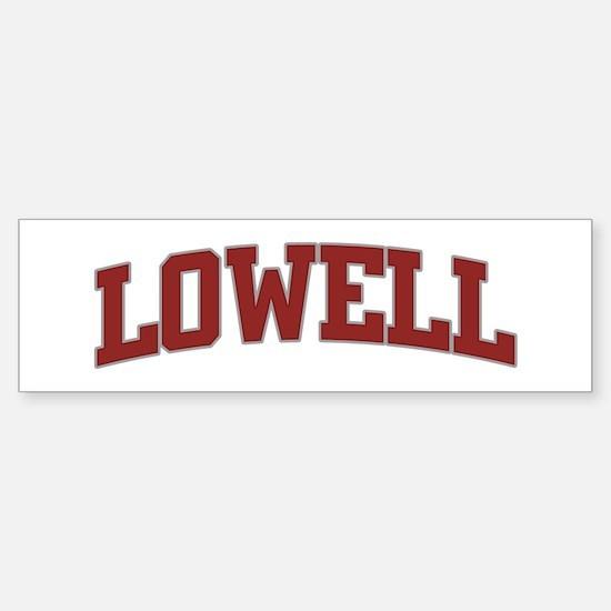 LOWELL Design Bumper Bumper Bumper Sticker