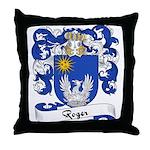 Roger Family Crest Throw Pillow