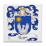 Roger Family Crest Tile Coaster