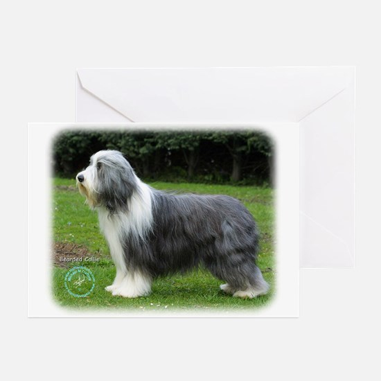 Bearded Collie 8R002D-16 Greeting Cards (Pk of 10)