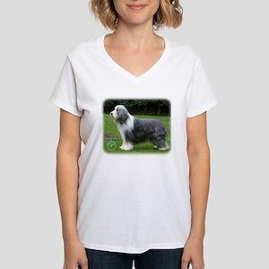 Bearded Collie 8R002D-16 Women's V-Neck T-Shirt