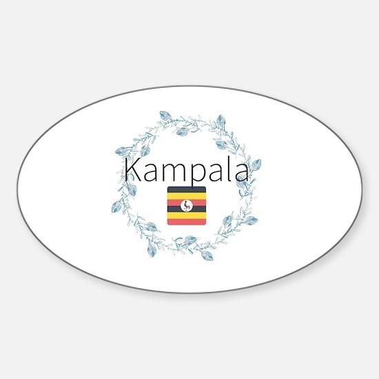 Cute Kampala Sticker (Oval)