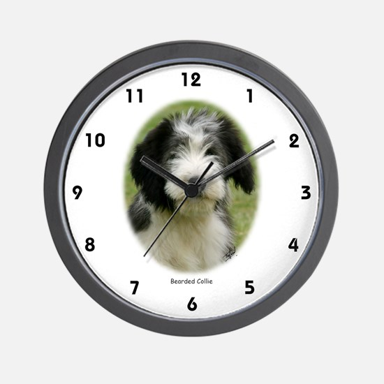 Bearded Collie 9Y049D-018 Wall Clock