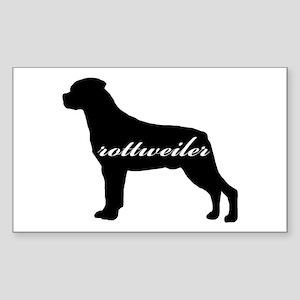 Rottweiler DESIGN Rectangle Sticker