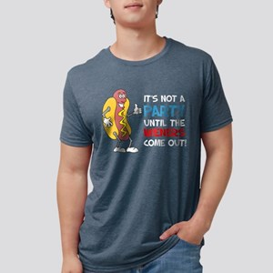 Party Until Wieners Come Out Women's Dark T-Shirt