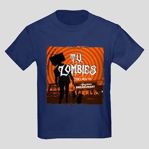 T.V. Zombies Kids Dark T-Shirt
