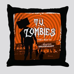 T.V. Zombies Throw Pillow