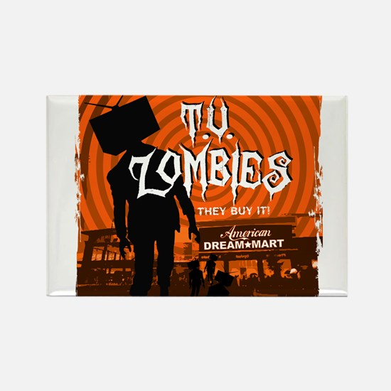 T.V. Zombies Rectangle Magnet (10 pack)