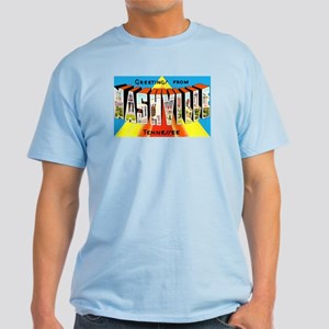 Nashville Tennessee Greetings Light T-Shirt