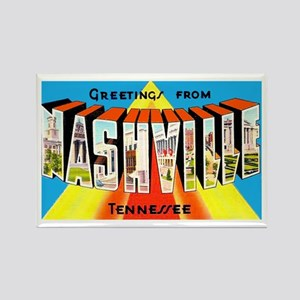 Nashville Tennessee Greetings Rectangle Magnet