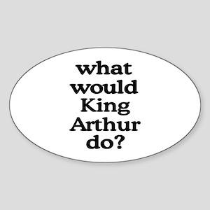 King Arthur Oval Sticker