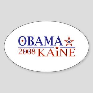 Obama Kaine 08 Oval Sticker
