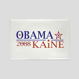 Obama Kaine 08 Rectangle Magnet