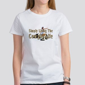 Simple Cowgirl Life Women's Classic White T-Shirt