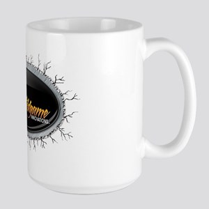 WGI Button Logo in Frame-T-Shirt Back Mugs