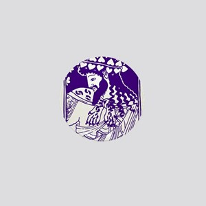 Purple Bacchus Mini Button