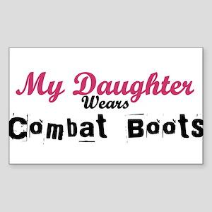 My Daughter Wears Combat Boot Rectangle Sticker