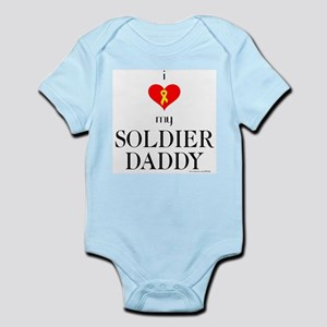 """""""I Love My Soldier Daddy"""" Infant Creeper"""