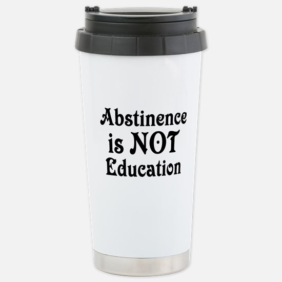 Abstinence Stainless Steel Travel Mug