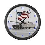 Abrams Tank Large Wall Clock